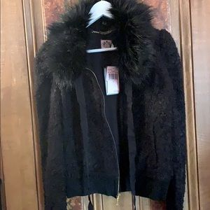 RELISTED NWT Ptr Pn Faux Fur Jacket